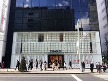 Chanel store in Ginza,Tokyo Stock Images