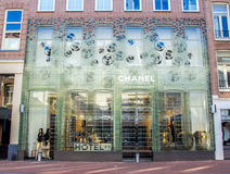 Chanel store in P.C. Hooftstraat Amsterdam Royalty Free Stock Photo