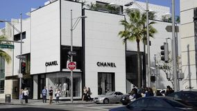 Chanel store at Rodeo Drive stock video footage