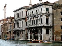 Chanel  in Venice. Boat Stock Photos