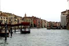 Chanel  in Venice. Gondola ride Royalty Free Stock Images