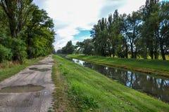 Chanell воды на сельской местности Стоковая Фотография RF