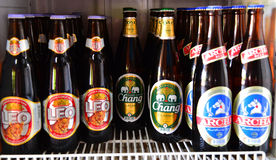 Chang, Archa and Leo beer thailand Royalty Free Stock Photos