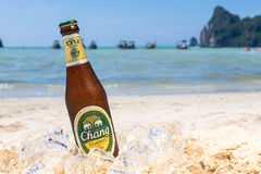 Chang-Bier auf dem Strand Lizenzfreie Stockfotografie