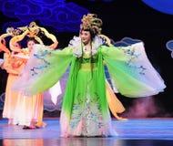 Chang e lata księżyc jest jeden cztery magistrali chińczyka Jiangxi OperaBlue żakiet Fotografia Royalty Free