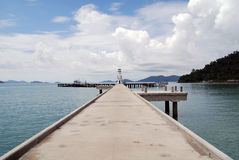 Chang island,Thailand. Bridge at Chang island,beauty Sky and Sea Royalty Free Stock Image