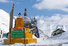 Chang La-pas in Ladakh, India Stock Afbeeldingen