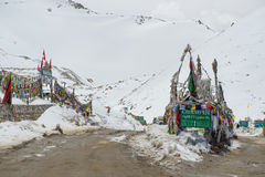 Chang La Pass, the third highest driveable mountain pass in the world 5300m. Stock Photography