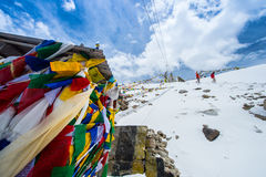 Chang La Pass, the third highest driveable mountain pass in the world 5300m. Stock Image