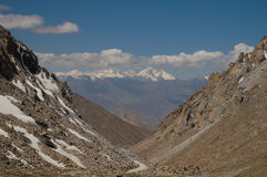 Chang La Pass, the third highest driveable mountain pass in the Royalty Free Stock Photography