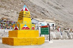 Chang La(pass) is the third highest motAt the top of the third highest motorable road in the world, Chang lrable road in the world Royalty Free Stock Image