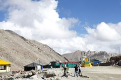 Chang la (pass) is the thrid higest motorable road in the world Stock Images