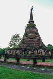Chang Lom temple. Pagoda in Chang Lom temple at Sukhothai Historical Park Royalty Free Stock Image
