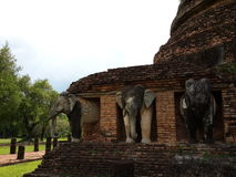 Chang Lom Temple at Sukhothai, Thailand. Royalty Free Stock Photo