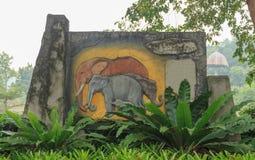 Chang a pris la ville du zoo de Songkhla Photographie stock