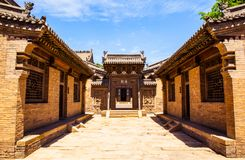 Chang's Manor Park scene-Chinese ancient house building. Stock Image