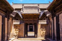 Chang's Manor Park scene. Chinese ancient house building. Royalty Free Stock Photos