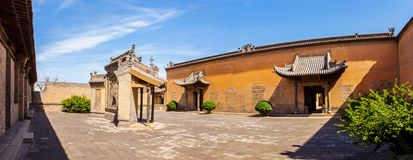 Chang's Manor Park scene. Chinese ancient house building. Stock Photos