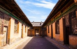 Chang's Manor Park scene. Chinese ancient house building. Royalty Free Stock Photography