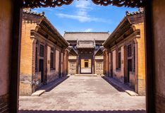 Chang's Manor Park scene-Chinese ancient house building. Stock Photography