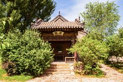 Chang's Manor Park scene-Tea house of Manor`s garden Stock Photo