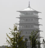 Chang `an tower, tower potential like gushing out, lone towering palace Royalty Free Stock Photography
