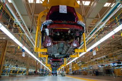 Changan Automobile Beijing Branch Changan car assembly line Royalty Free Stock Photo