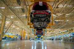 Changan Automobile Beijing Branch Changan car assembly line Royalty Free Stock Photos