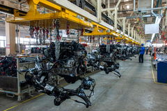 Changan Automobile Beijing Branch of the engine assembly line Royalty Free Stock Photo