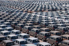 Changan Automobile Co. factory vehicle transport field Yuzui Royalty Free Stock Photos