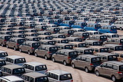 Changan Automobile Co. factory vehicle transport field Yuzui Royalty Free Stock Photography