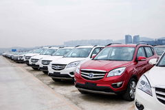 Changan Automobile Co., Ltd. Yubei factory vehicle transport field Stock Photo