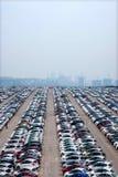 Changan Ford samochód Co , dwa samochodów pojazdu transportu fabryczny pole Obrazy Stock