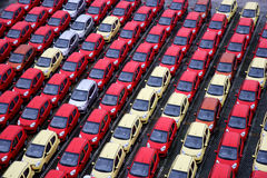 Changan nowi fabryczni towarowi pojazdy Zdjęcia Royalty Free