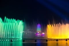 changan tower. This is xi `an international horticultural expo site, changan tower. Tourist resort stock photo