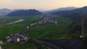 Changantoren bij nacht, nieuw oriëntatiepunt van Xi ', Shaanxi, China stock video