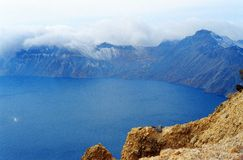 Changbai Mountain Heavenly Lake  1. Tianchi in Changbai Mountain area of 9.8 square kilometers, the water elevation 2,189 meters, with an average water depth of Stock Photos