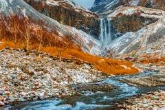 Changbai mountain waterfalls in China Royalty Free Stock Photos