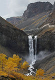 Changbai Waterfall in China. Stock Photo