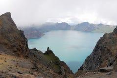 changbaishan озеро рая Стоковое Изображение