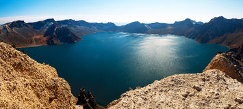 Changbaishan heaven pool_landscape Royalty Free Stock Images