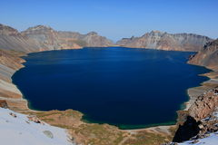 Changbai的Sky湖 免版税库存照片