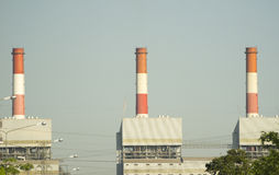 Changchai. Close-up coal-fired power plant Royalty Free Stock Photos