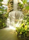 Changchai. Artificial waterfall in botanic garden Royalty Free Stock Images