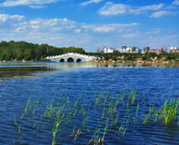 Changchun city. South lake parkr in changchun city of jilin china Royalty Free Stock Images