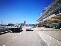 Changchun Longjia Airport in a sunny day Stock Photos