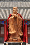 Changchun Temple of Confucius statue Stock Photos