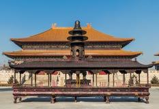 Changchun-wanshou Tempelräuchergefäß Stockbild