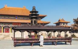 Changchun wanshou temple incense burner Stock Photos