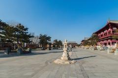 Changchun wanshou temple stone lantern Royalty Free Stock Image